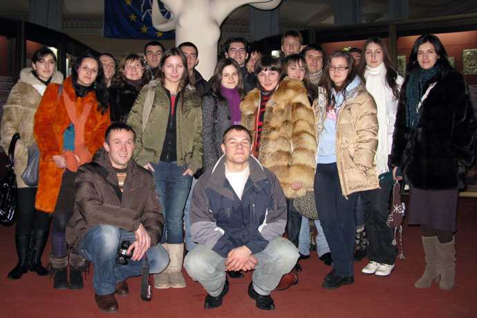 At the National Museum of Ethnography and Natural History of the Republic of Moldova. December 2009.
