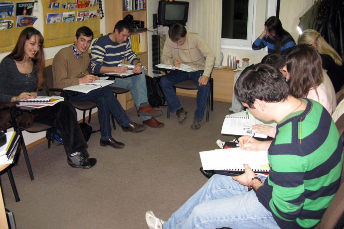 At Terra Nova. TOEFL Preparation / Section 3 (M.W.F. Evening Group). December 2009.