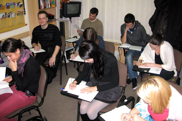 At Terra Nova. TOEFL simulation. December 2010.