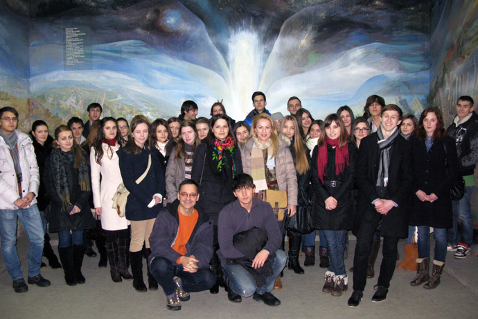 At the National Museum of Ethnography and Natural History of the Republic of Moldova. December 2012.