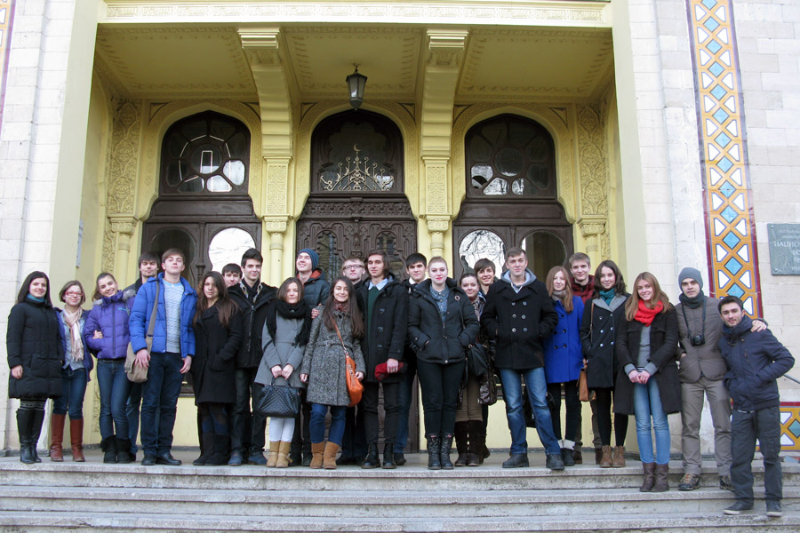 At the National Museum of Ethnography and Natural History of the Republic of Moldova. December 2013.