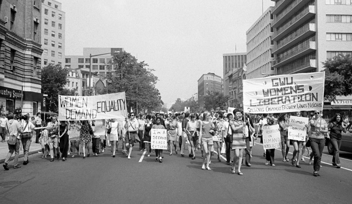 A Women's Liberation march in Washington, D.C., 1970.