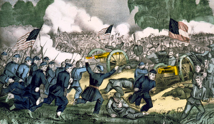 The Battle of Gettysburg (July 1-3, 1863), a major turning point of the American Civil War. The victory of the Union kept the country united.