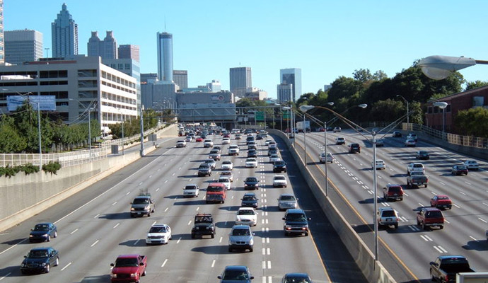 A highway in Atlanta, Georgia.