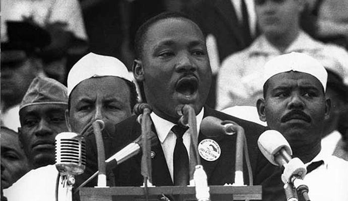 Rev. Martin Luther King Jr. delivers his most famous speech, I Have A Dream, on August 28, 1963