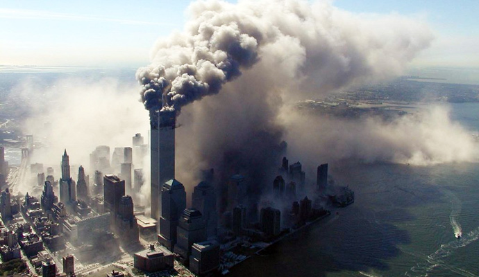 The September 11, 2001 attacks (often referred to as 9/11) consisted of a series of coordinated terrorist attacks upon the United States, predominantly targeting civilians, carried out on Tuesday, September 11, 2001. That morning, 19 men affiliated with al-Qaeda hijacked four commercial passenger jet airliners. Each team of hijackers included a trained pilot. The pilots of two teams crashed two planes into the Twin Towers of the World Trade Center in New York City, one plane into each tower, causing both towers to collapse within two hours. The pilot of the third team crashed a plane into the Pentagon in Arlington County, Virginia. Passengers and members of the flight crew on the fourth hijacked aircraft attempted to retake control of their plane from the hijackers; that plane crashed into a field in rural Somerset County, Pennsylvania. Approximately 3,000 people died in these attacks.