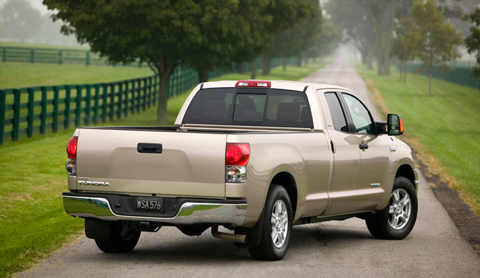 The Toyota Tundra is a full-size pickup truck introduced by Toyota in the year 2000. The Tundra was nominated for the North American Truck of the Year award and was Motor Trend magazine's Truck of the Year in 2000 and 2008. The newest Tundras are assembled in San Antonio, Texas and Princeton, Indiana.
